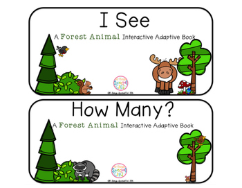 "Forest Animal Interactive Adaptive books - set of 2 (""I Se"
