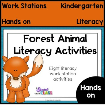 Forest Animal Literacy and Math Center Activities