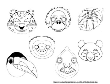 Forest Animal Mask Templates.