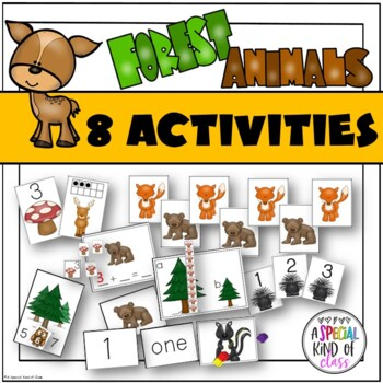 Forest Animal Math Center Activities