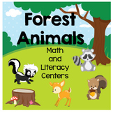 Forest Animal Math and Literacy Center Preschool PreK Kinder