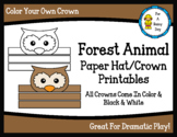 Forest Animal Paper Hat/Crown Printables