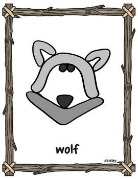 Forest Animal Playdough Mats