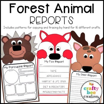 Forest Animal Reports Craft Bundle