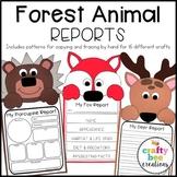 Forest Animal Reports Craft Bundle | Flip Book | Skunk | Penguin | Bear