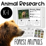 Forest Animals Research Report | Digital option included