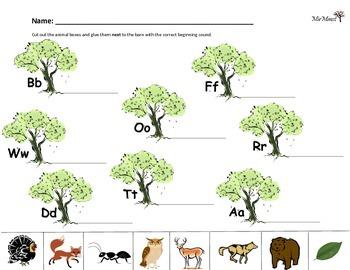 Forest Animal Sounds Worksheet