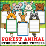 Forest Animal Student Work Toppers