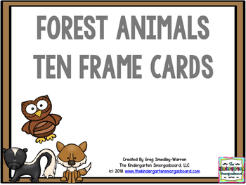Forest Animal Ten Frame Cards!  A Common Core Math Creation!