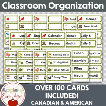 Forest Animal Theme Classroom Schedule Cards! 100+ Cards!