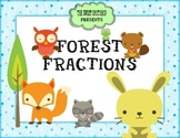 Forest Animal Theme Equivalent Fractions Center