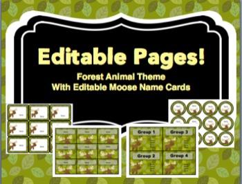 Forest Animal Theme Writing Process Bulletin Board Set
