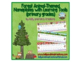 Forest Animal-Themed Nameplates with Learning Tools {prima