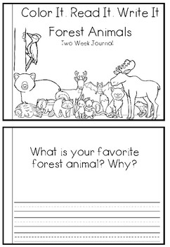 Forest Animal Two Week Journal (sunnah learners)