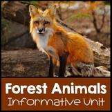 Forest Animals Nonfiction Informational Text Unit