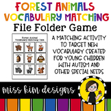Forest Animal Vocabulary Folder Game for Students with Autism & Special Needs