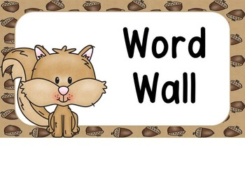 Forest Animal Word Wall Letters And 200 Fry Words