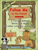 """Forest Animal """"Write the Room"""" and other Literacy Activities"""