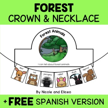Forest Animal Activity Crown and Necklace