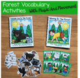 """Forest Animals Adapted Book--""""Animals Live in the Forest"""""""