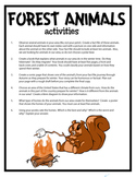 Forest Animals Anchoring Activities
