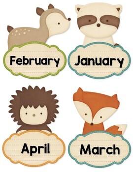 Forest Animals Birthday Board Display