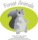 Forest Animals Children's Clipart in Black and White