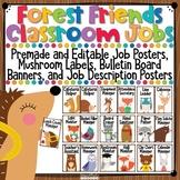 Forest Animals Classroom Jobs Bulletin Board