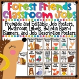 Woodland Animals Classroom Jobs Bulletin Board