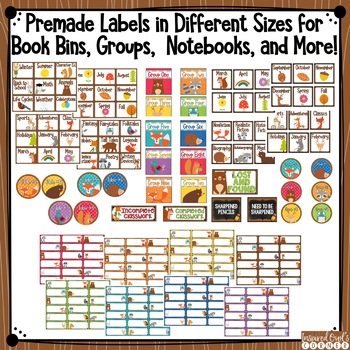 Forest Animals Classroom Labels