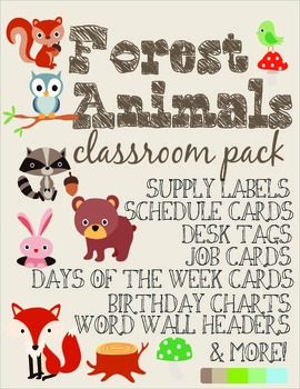 Forest Animals Classroom Pack