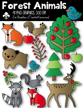 Forest Animals Clipart ~ Commercial Use OK
