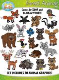 Forest Animals Clipart {Zip-A-Dee-Doo-Dah Designs}