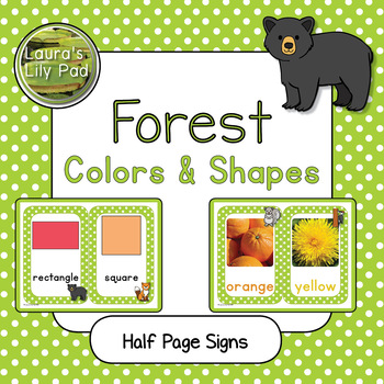 Forest Animals Colors and Shapes Signs