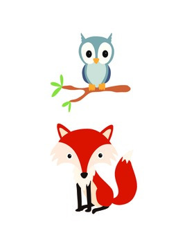 Forest Animals Cut-able ClipArt