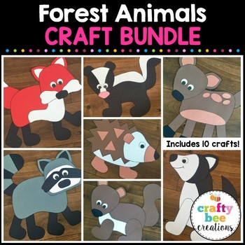 Forest Animals Cut and Paste Set