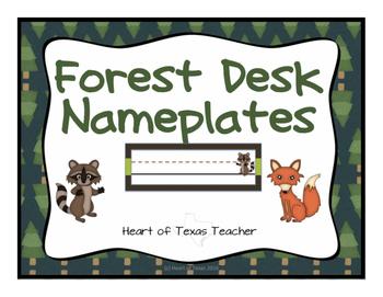 Forest Animals Desk Nameplates