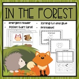 Forest Animals Emergent Reader and Mini Literacy Set