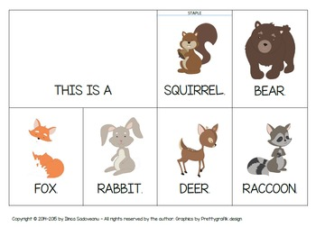 Forest Animals - Flip Book (Uppercase Letters)