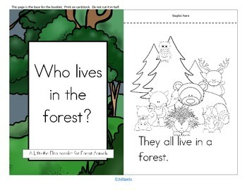 Forest Animals Informative Reader plus Puppets, Vocabulary
