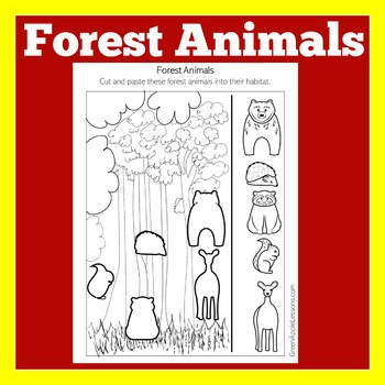 Forest Animals Activity | Forest Animals Habitat | Forest Animals Coloring