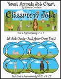 Forest Animals Job Chart