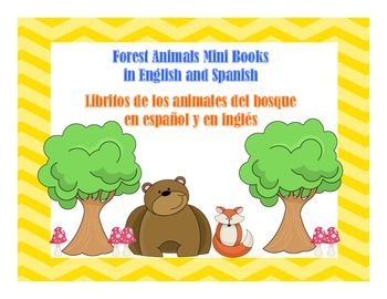Forest Animals Mini Books (English and Spanish)-Libritos d