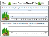 Forest Animals Name Plates
