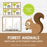Forest Animals Pictograph Task Cards