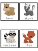 Forest Animals Picture Word Bank and Picture Cards
