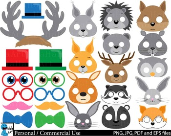 Forest Animals Props - Clip Art Digital Files Personal Commercial Use cod233