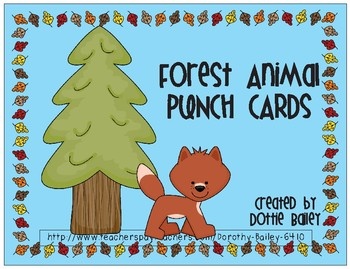 Forest Animals Punch Cards