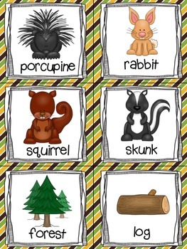 Forest Animals Read, Write, and Count the Room {Literacy and Math} {CCSS}