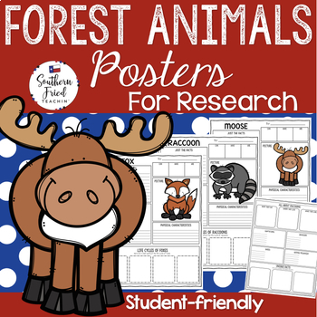 Forest Animals Research Project Posters